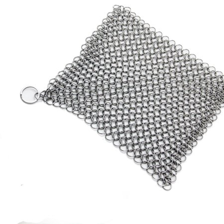 Mosunx Stainless Steel 316 Cast Iron Cleaner Brush Scrubber For Cast Iron Pan (Stainless Steel Grates Vs Porcelain Cast Iron)