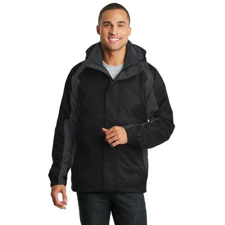Port Authority® Ranger 3-In-1 Jacket. J310 Black/ Ink Grey Xs - image 1 de 1