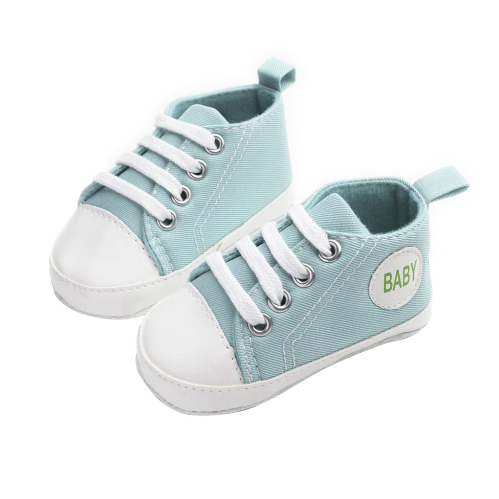 Deloito Newborn Baby Casual Sneakers,Toddler Kid Infant Baby Girls Boys Soft Sole Canvas Sneaker Anti Slip Shoes Pattern Print Lovely Shoes Size for 0-18 Months