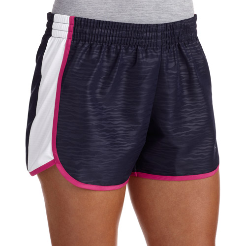 Danskin Now Women's Woven Running Shorts With Mesh Panel and Hidden ID Pocket