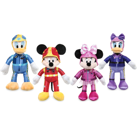 Daisy Donald (Mickey and the Roadster Racers Cartoon Plush Figure [Mickey Mouse - Minnie Mouse - Donald Duck - Daisy Duck] Race Car Drivers (Collector Toy Set of 4) 10