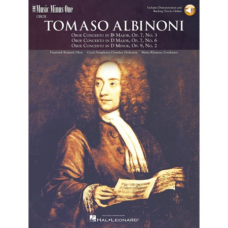 Music Minus One Albinoni - Oboe Concerti B-flat Op 7 No 3 D Maj Op 7 No 6 D Min Op 9 No 2 Music Minus One BK/CD by