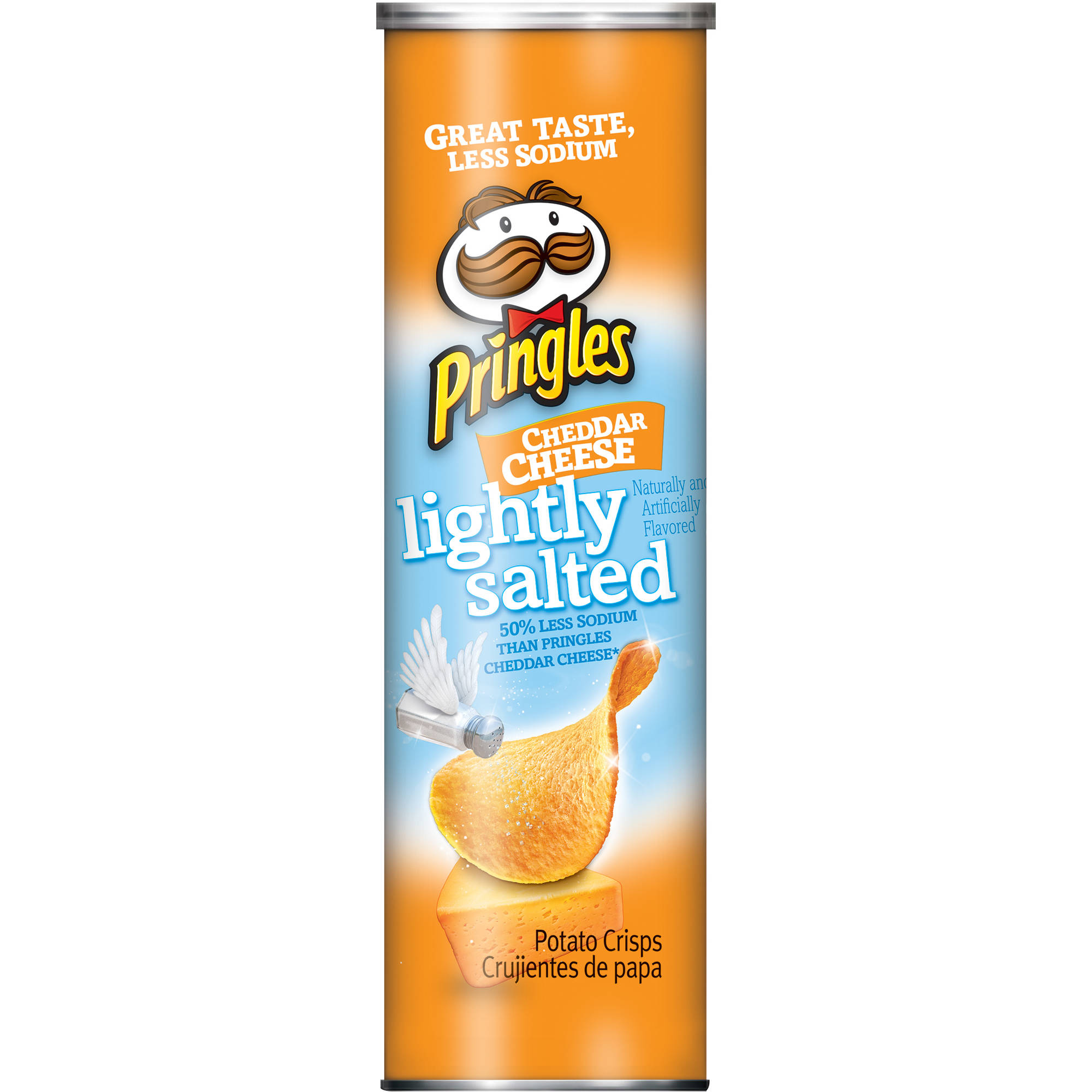 ip Pringles Lightly Salted Cheddar Cheese Potato Crisps  oz