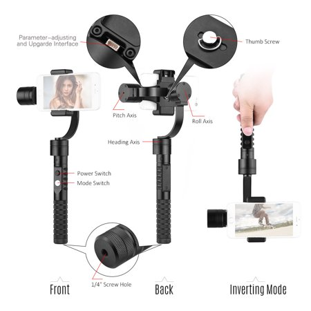 """AFI V2 3-Axis Handheld Smartphone Gimbal Brushless Gyro Stabilizer for Sumsung Huawei Xiaomi 3.5""""-5.5"""" Smartphones - image 2 of 7"""