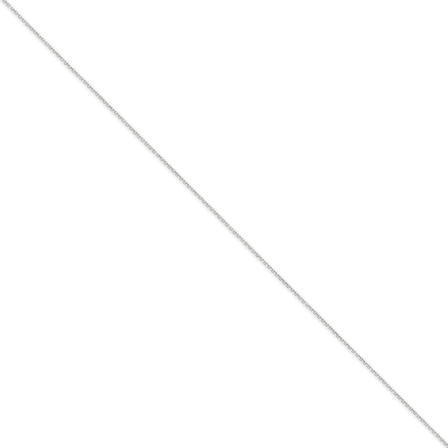 14kt White Gold .75mm Diamond-Cut Cable Chain by Generic