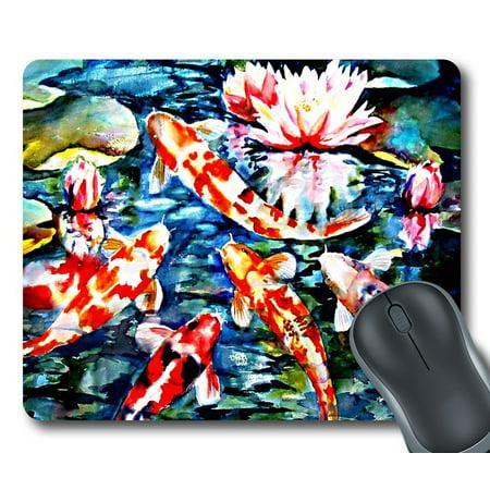 GCKG Koi Fish Mouse Pad Rectangle Gaming Mousepad 9.84x7.87 inches - image 2 de 2