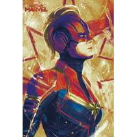 Captain Marvel - Painterly Print Wall Art