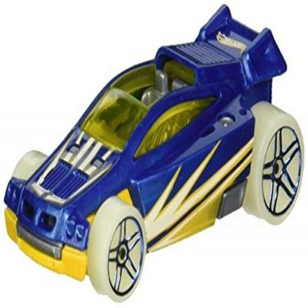 Hot Wheels Blue Card - Hot Wheels 2016 SPECTYTE Glow Wheels (Blue) Snowflake Card 9/10