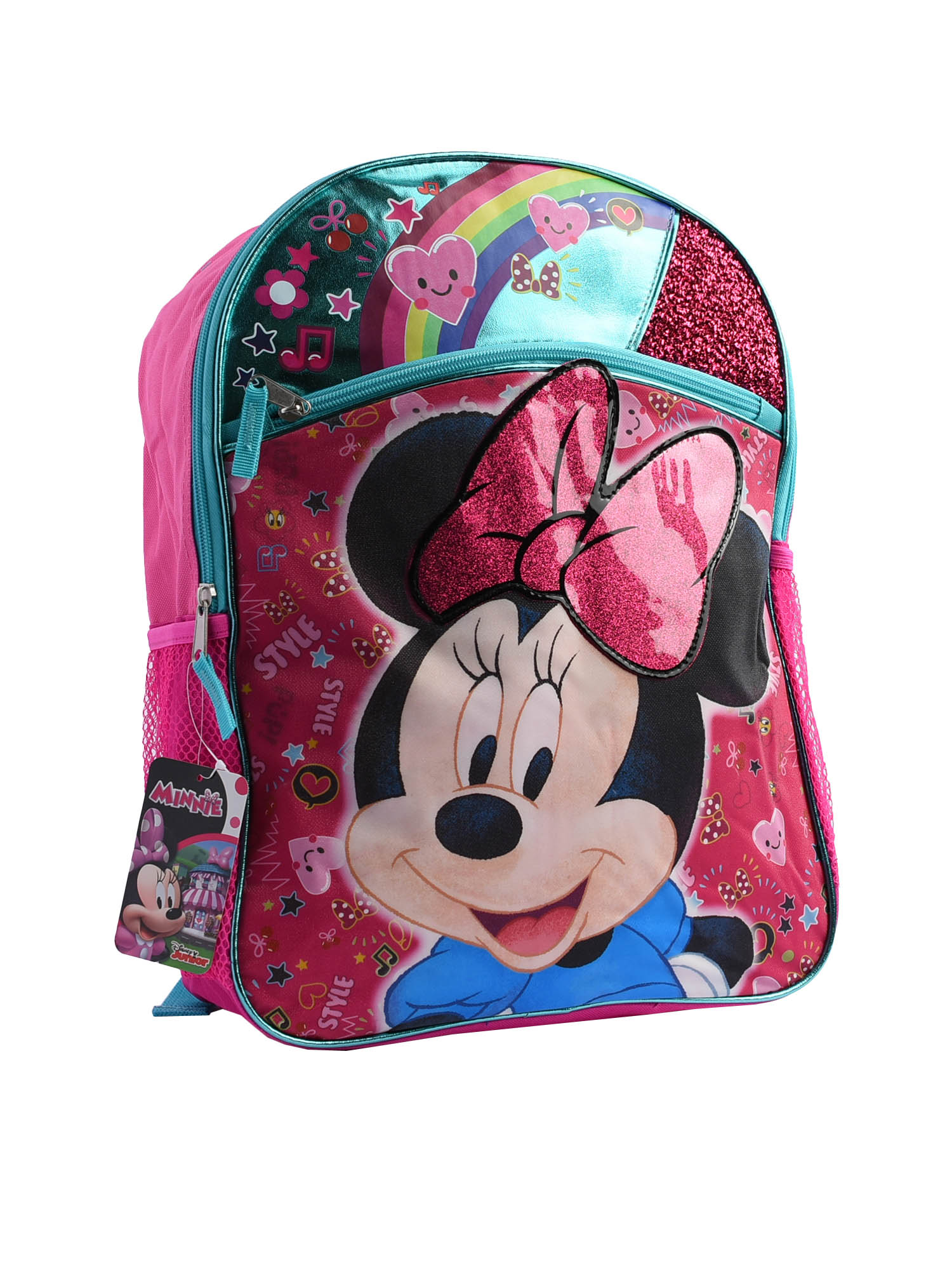 "Disney Minnie Mouse 16/"" Large School Backpack Pink"