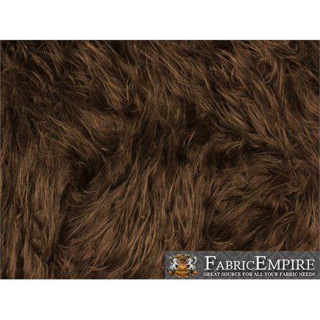 Faux Fur Fabric Long Pile Gorilla BROWN / 60