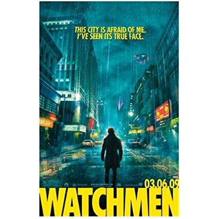 Watchmen City Street Quote Action 36X24 Movie Art Print Poster   Superhero Comic Book Costumed Vigilante Rorschach