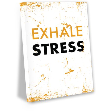 Awkward Styles Exhale Stress Wall Decor Inspirational Quotes Wall