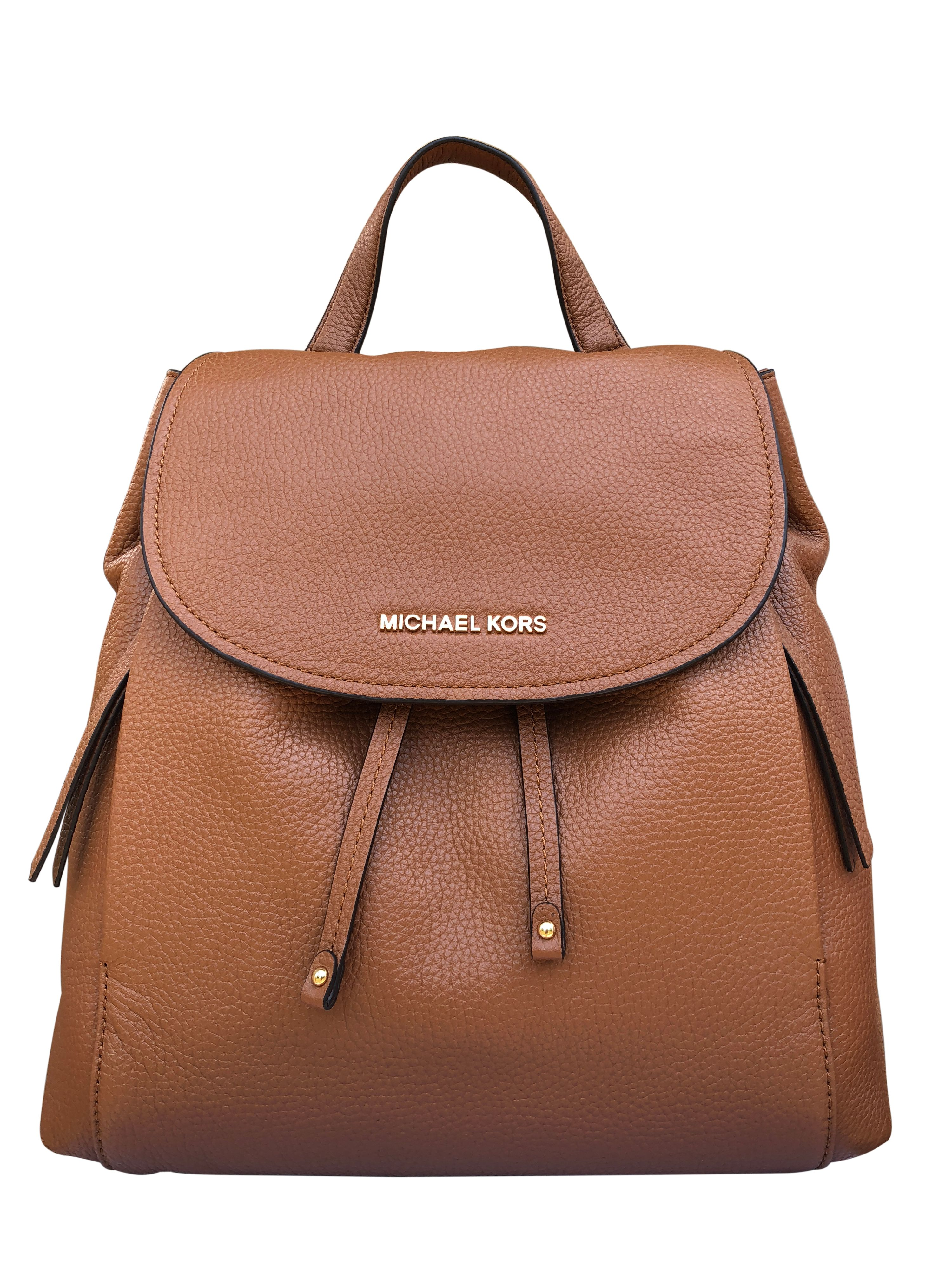 e4a44f4bd12e ... order michael kors riley large leather backpack luggage brown  drawstring flap bag walmart f2f8d 7c87e