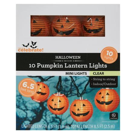 Way To Celebrate Halloween Pumpkin Lantern Lights