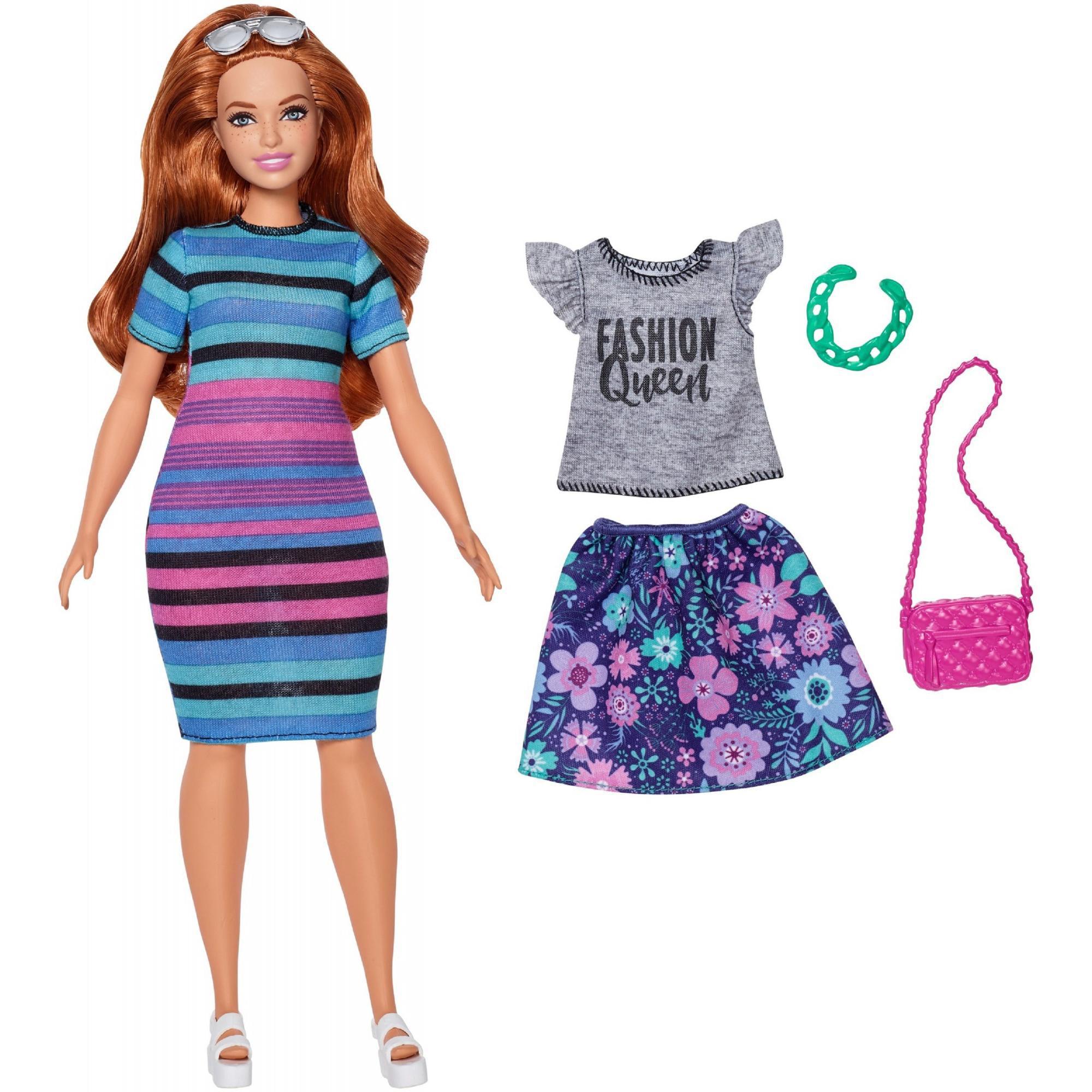Dolls NEW Barbie Fashionista Curvy Doll Purple Lace Skirt ~ Clothing Clothing