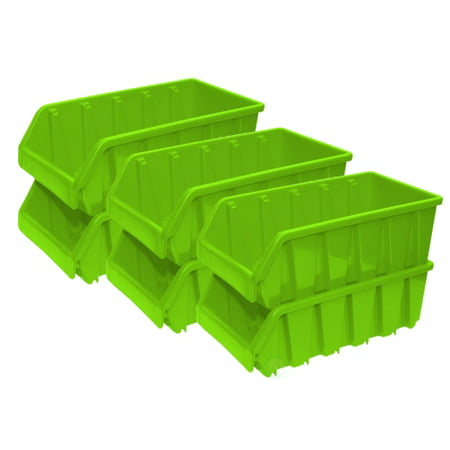 Basicwise Plastic Storage Stacking Bins, Green (Pack of - Plastic Book Boxes