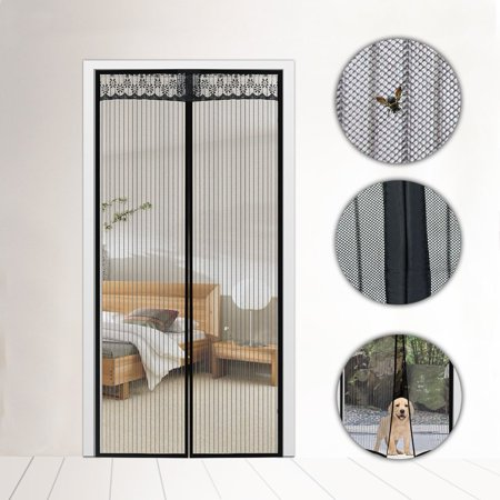 Coofel Magnetic Screen Door with Heavy Duty Mesh Curtain and Full ...