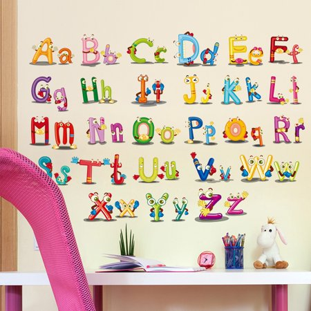 Supersellers Letter Pattern Wall Stickers For Kid Children Baby Home Livingroom bedroom Decal Decor Baby Name Letters Wall