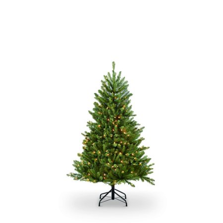 Puleo International 4.5 ft. Pre-Lit Fraser Fir Artificial Christmas Tree with 250 Clear UL listed Lights