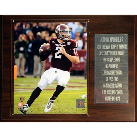 C&I Collectables NCAA Football 12x15 Johnny Manziel Texas A&M Aggies Career Stat Plaque