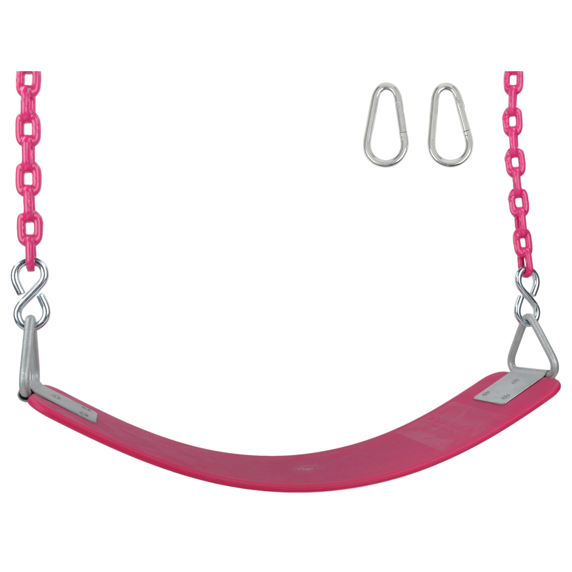 Swing Set Stuff Inc. Commercial Polymer Belt Seat with 5.5 Ft. Coated Chain (Pink)
