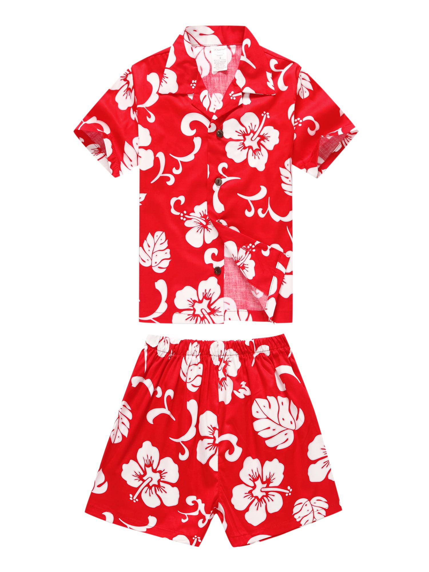 f6fa6306 Hawaii Hangover - Matching Father Son Hawaiian Luau Outfit Men Shirt Boy  Shirt Shorts PW Red Hibiscus XL-6 - Walmart.com