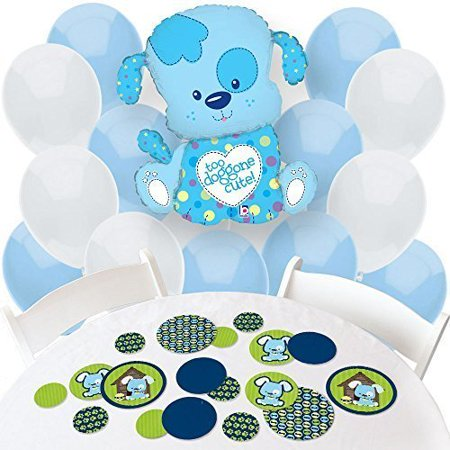 boy puppy dog - confetti and balloon party decorations - combo kit](Puppy Balloons)