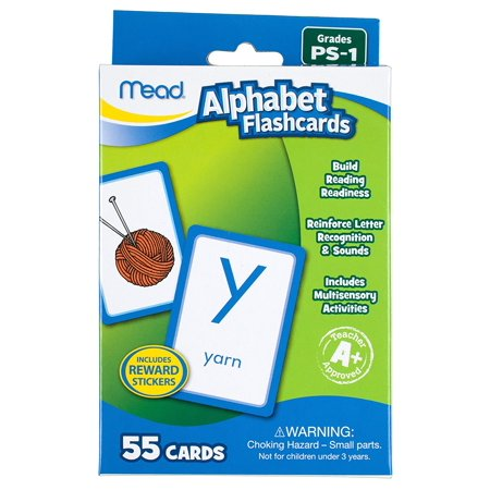 Alphabet Flashcards, 55 Cards, Grades Pre-K to 1 (63038), Each letter has its own flashcard with a color picture to help with letter sound.., By (Alphabet Letter Cards)