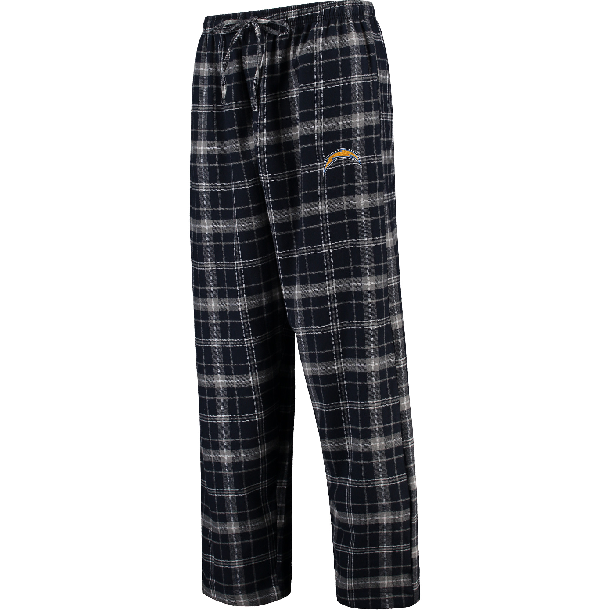 Los Angeles Chargers Concepts Sport Ultimate Plaid Flannel Pajama Pants - Navy
