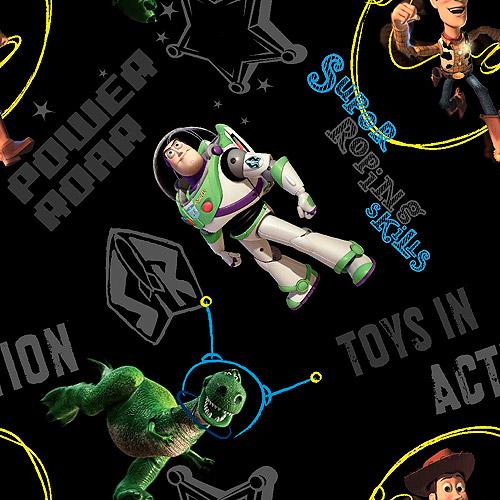 Disney Pixar Buzz Lightyear Toys In Action Fabric