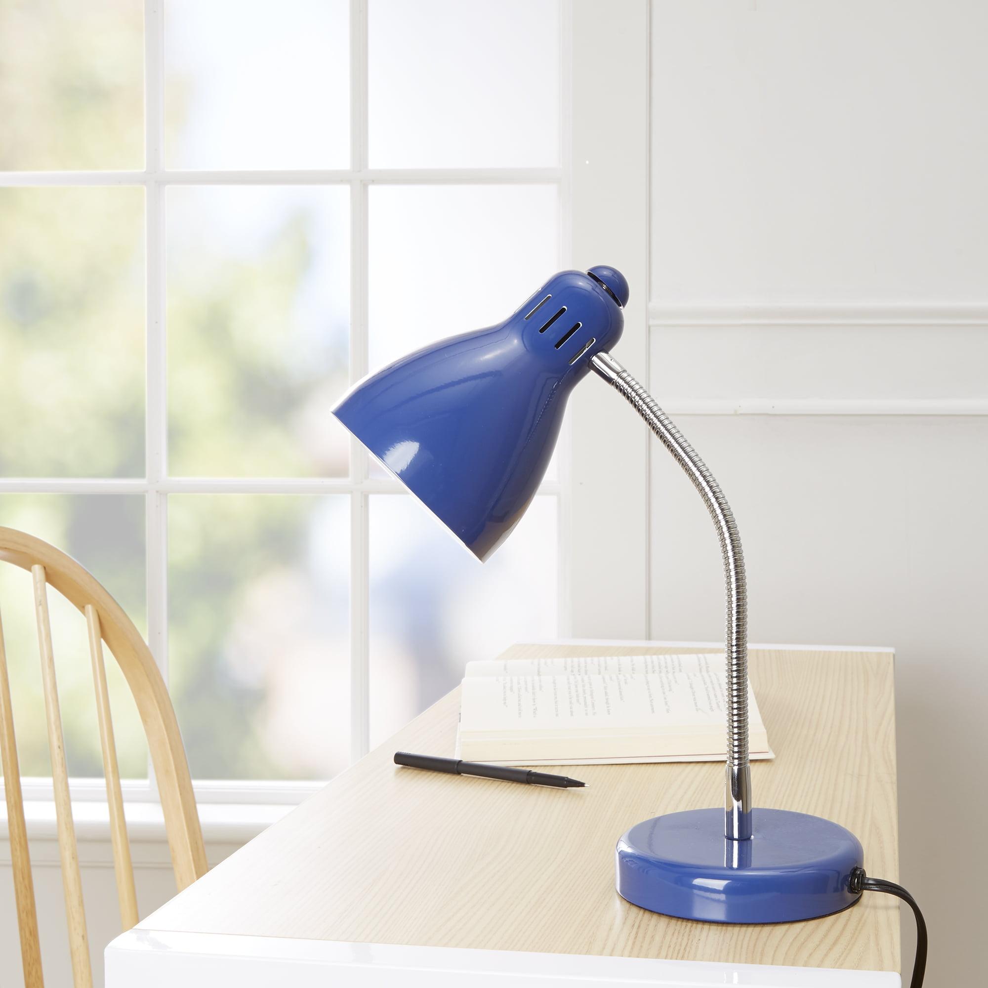 Mainstays Stadium Blue Desk Lamp, CFL Bulb Included