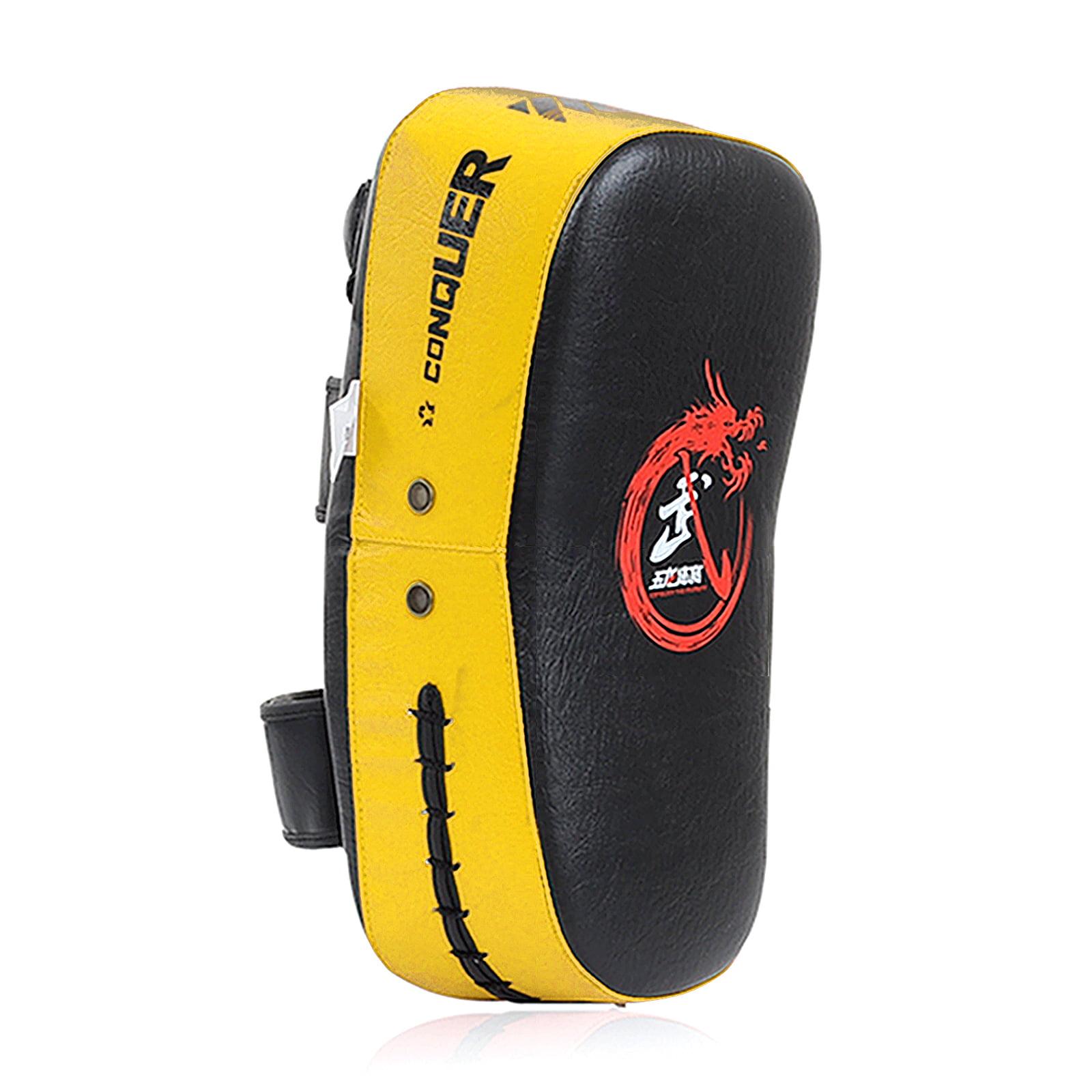 Cheerwing PU Leather Strike Shield Curved Focus Training Target Punch Mitt Karate Muay Thai Pad Kick Arm Target