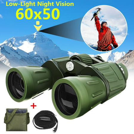 Light Weight 60x50 Military Army Zoom Binoculars Day / Low-Light Night Vision Hunting Camping Outdoor Traveling Telescope with (Best Lightweight Binoculars For Hunting)
