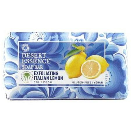 Exfoliating Massage Bath Bar (2 Pack - Desert Essence Bar Soap, Exfoliating Italian Lemon 5)