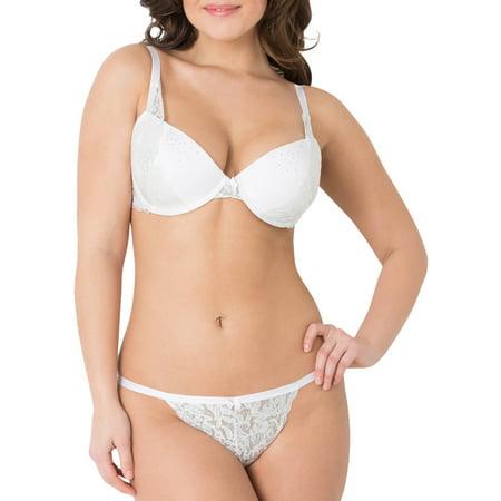 Smart & Sexy Women's Lace T-Shirt Bra And Panty Set, Style SA611