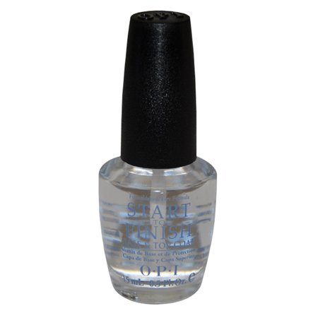 Start to Finish Base & Top Coat Strengthener # NT T71 by OPI for Women - 0.5 oz Nail