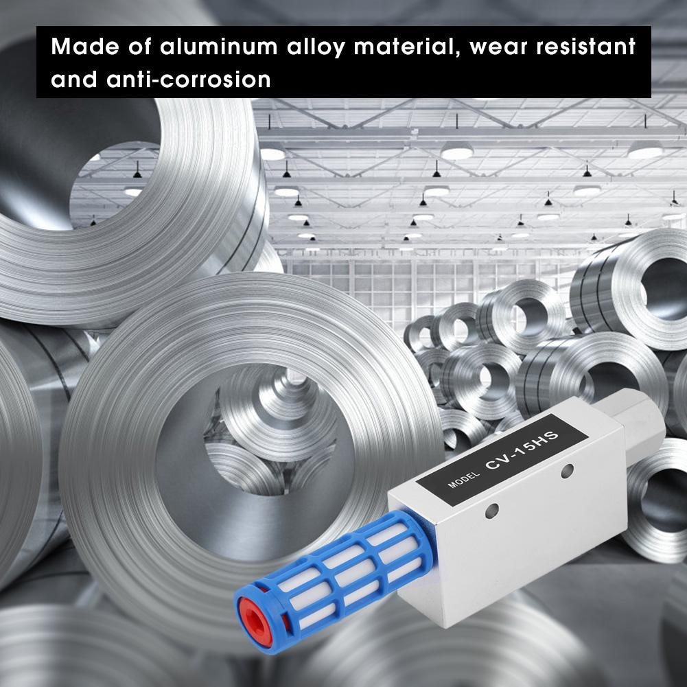 CV-15HS Vacuum Generator Anti-Corrosion for School Home Precision Threads Vacuum Ejector
