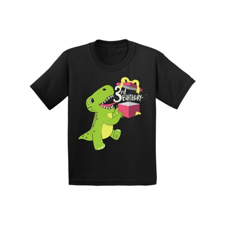 Birthday Shirts For Toddlers (Awkward Styles Dinosaur Birthday Toddler Shirt Gifts for 3 Year Old Birthday Boy Shirt 3rd Birthday Girl Outfit Dinosaur Gifts for Toddler Dinosaur Themed Birthday Party 3rd Birthday Party)