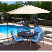 Island Umbrella Santiago 10-ft Octagonal Cantilever Umbrella with Olefin Canopy