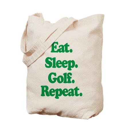 bbef961c44cdf CafePress - Eat Sleep Golf - Natural Canvas Tote Bag, Cloth Shopping Bag