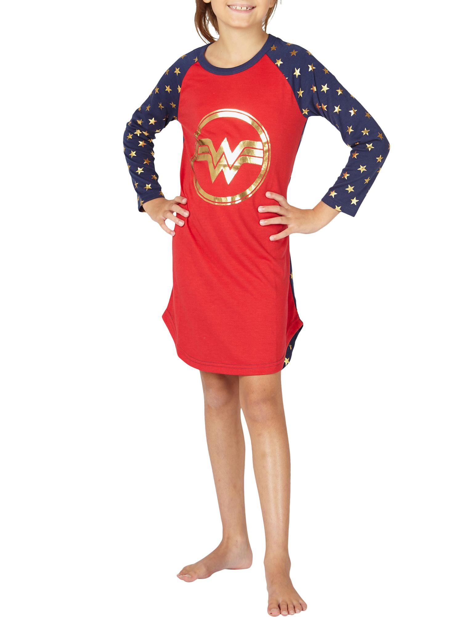 Girls' Wonder Woman Warrior Princess Pajama Nightgown (Little Girl & Big Girl)