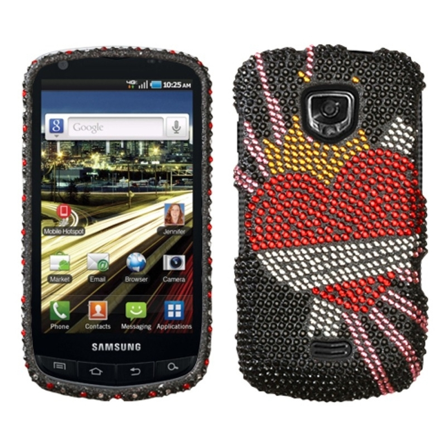 Insten Heartbreaker Diamante Phone Case for SAMSUNG: I510 (Droid Charge)