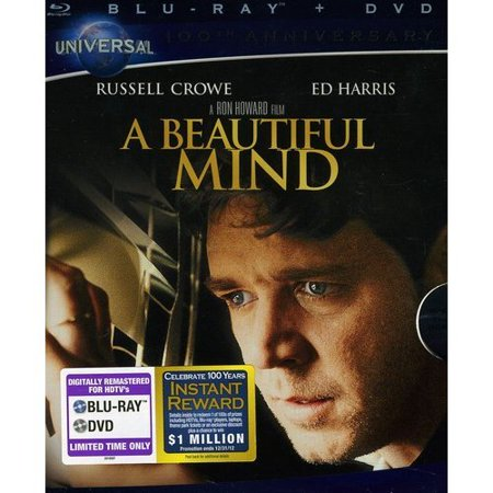 A Beautiful Mind  Blu Ray   Dvd   With Instawatch   Widescreen