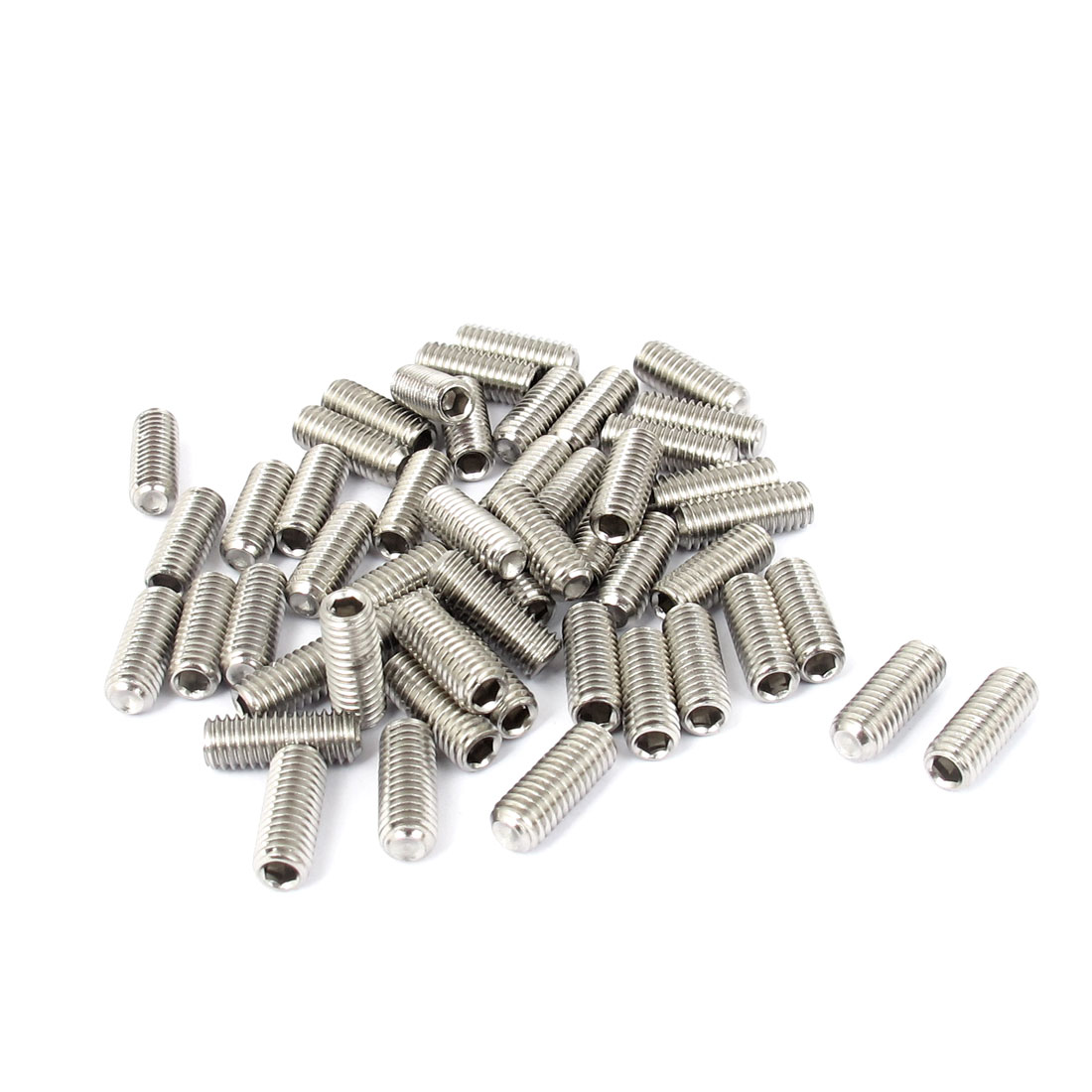 M6x16mm Stainless Steel Hex Socket Set Cup Point Grub Screws Silver Tone 50pcs - image 1 of 1