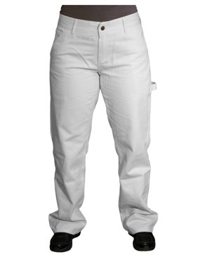 Painters Pants - White - 8 Petite