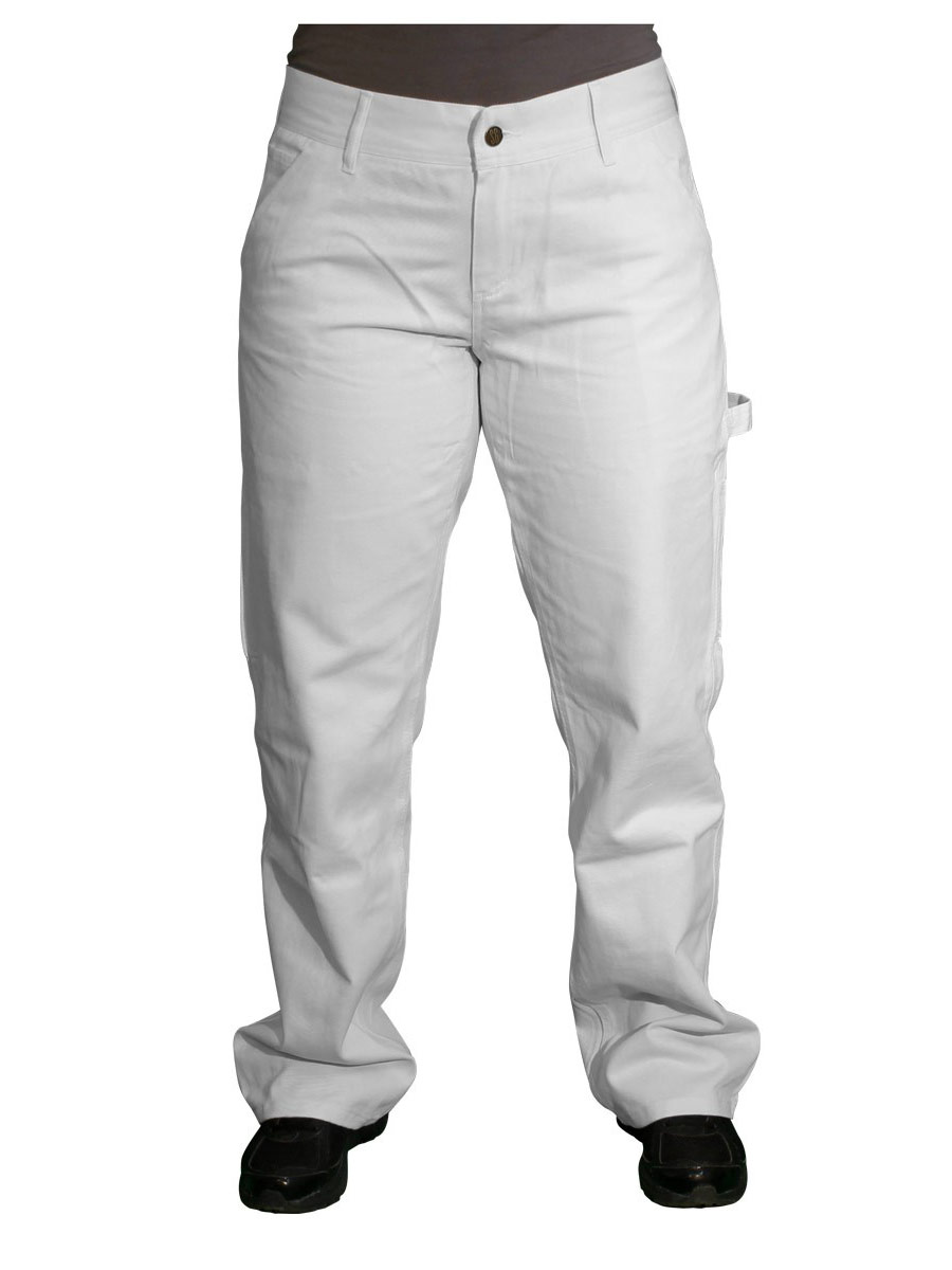 Safety Girl Painters Pants - White - 8 Petite