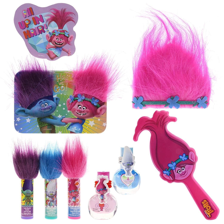 Dreamworks Trolls Lip Hair and Nails Girls Cosmetic Set