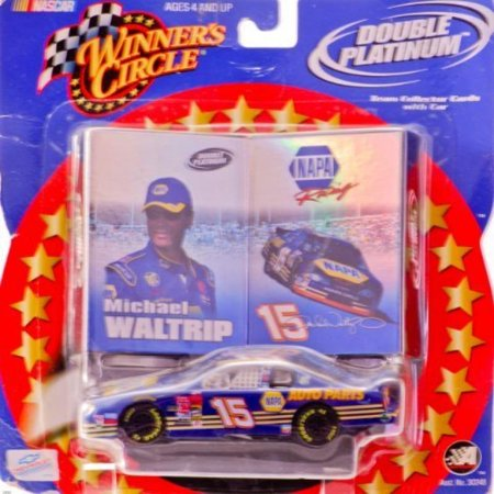 2002   Action   Winners Circle   Nascar   Double Platinum    15 Michael Waltrip   Napa Auto Parts   Monte Carlo   1 43 Scale Die Cast W  Team Collector Cards   Rare   Limited Edition   Collectible
