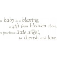 WallPops WPWW98832 A Baby is a Blessing Wall Wishes