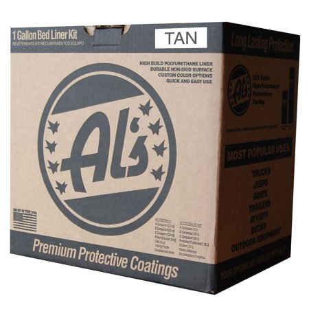Al's Liner One Gallon DIY Spray On Roll On Truck Bed Liner Kit